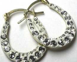 STYLISH 10K  YELLOW GOLD DIAMONTES EARRINGS  GTJA364