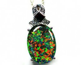 BEAUTIFUL LARGE BRIGHT FASHION OPAL PENDNAT MYJA 919