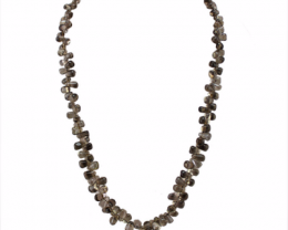 Smoky Quartz Necklace 232.00 Cts Excellent AAA Grade Tear Drop Beads Neckla