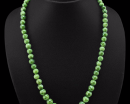 Beautiful Rare 293.00 Cts Green Garnet Faceted Beads Necklace