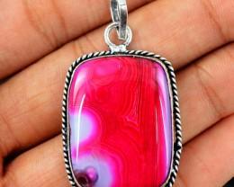 Natural 13.33 Gms Pink Onyx Vibrant Pendant