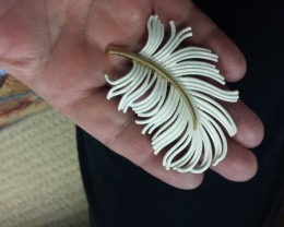 This is a rather large piece for a brooch great for a wedding  bouquet!!!