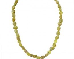 Genuine 343.80 Cts Green Garnet Beads Necklace