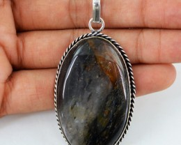Natural 24.28 Gms Black Rutile Quartz Pendant