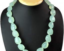 Genuine Aquamarine 639.00 Cts Faceted Beads Necklace