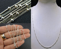 NECKLACE SILVER CHAIN 925 CHAIN 52CM CMT 70