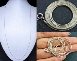 QUALITY SILVER SNAKE CHAIN 56CM CMT 80