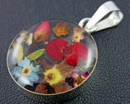 PRETTY FLOWERS SILVER PENDANT   GTJA 147