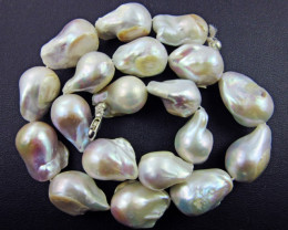 GOOD LUSTER PEARL NECKLACE BEST QUALITY PEARLS   BU 625