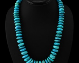 Genuine 971.00 Cts Turquoise Untreated AAA Beads Necklace