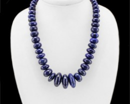 Genuine 1005.00 Cts Lapis Lazuli Round Beads Necklace