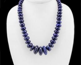 Genuine 1005.00 Cts Lapis Lazuli Round Beads Necklace