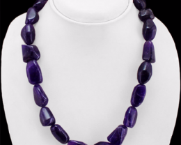 Bolivian Amethyst Necklace 560.20 Cts Most Elegant Beads Necklace