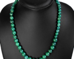 230.00 CTS NATURAL UNHEATED GREEN JADE ROUND BEADS NEC