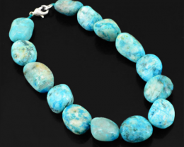 Genuine 242.50 Cts Turquoise Beads Bracelet
