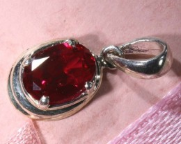 RUBY SILVER PENDANT 7.60 CTS SJ-52