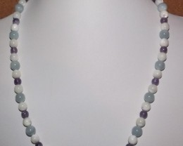 185.95 CTW 18 INCH LONG NECKLACE OF MIXED GEMSTONES