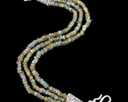 Natural 112.35 Cts Blue Labradorite Elegant Bracelet