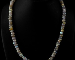 Genuine 290.55 Cts Labradorite Elegant AAA Beads Necklace