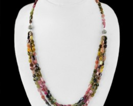 Exclusive Collection -Genuine Tourmaline 3 strands designer necklace