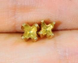 18 k gold earring setting 5 mm stones LGN 954