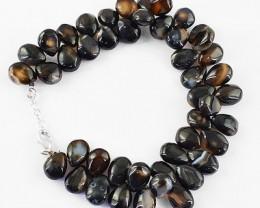 Genuine 242.60 Cts Black Onyx Beads Bracelet