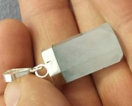 Natural Aquamarine pendant in .925 silver piece