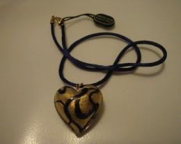 VENETIAURUM HEART NECKLACE OF MURANO GLASS