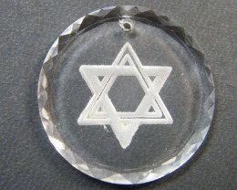 HIGH CLASS CRYSTAL STAR OF DAVID PENDANT 30.40 CTS SGS  722
