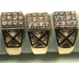 RE SELLERS DEAL THREE COPER TONE  RINGS SIZE 6.   TR 806