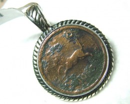 COIN PENDANT JEWELRY /SILVER 1953 -INDIA   55  CTS  MA-5