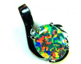 Stunning Man made opal pendant ml550