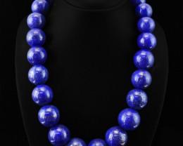 Genuine Blue Lapis Lazuli Round Beads Necklace