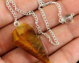 Natural 10.66 Gms Golden Tiger Eye Shining Pendulum
