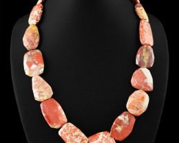 Genuine 665.00 Cts Untreated Mookaite Faceted Beads Necklace