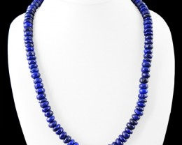 Genuine 460.00 Cts Untreated Blue Lapis Lazuli Beads Necklace