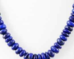 Genuine 540.00 Cts Untreated Blue Lapis Lazuli Beads Necklace