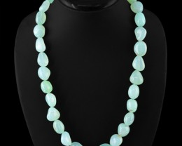 Genuine 605.00 cts Chalcedony Beads Necklace