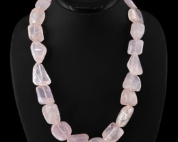 Natural 1010.00 Cts Pink Rose Quartz Necklace