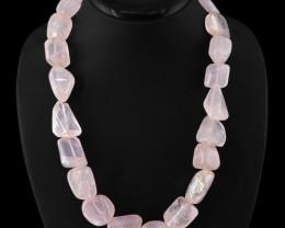 Natural 1010.00 Cts Pink Rose Quartz Necklace