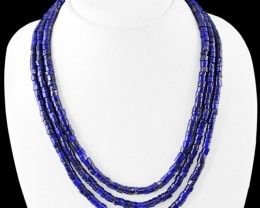 Natural 410.00 Cts Blue Lapis Lazuli Necklace