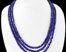 Natural 410.00 Cts Blue Lapis Lazuli Necklace