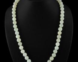 Natural 400.00 Cts Amazing Green Aquamarine Round Beads Necklace
