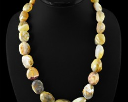Natural 758.00 Cts Agate Faceted Beads Necklace