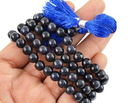 $24.00 SPECIAL PRICE OFFER :108 Beads Prayer Black Spinel Gemstone Necklace