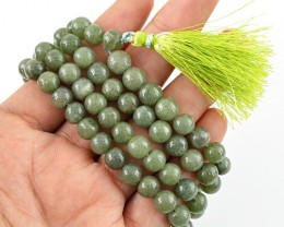 $24.00 SPECIAL PRICE OFFER :108 Beads Prayer Green Garnet Gemstone Necklace