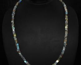 Natural 150.00 Cts Blue Color Change Labradorite Necklace