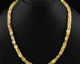 Natural 149.00 Cts Yellow Citrine Necklace