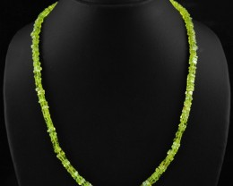Natural 113.00 Cts Green Peridot Amazing Necklace