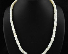 Natural 125.00 Cts White Agate Necklace
